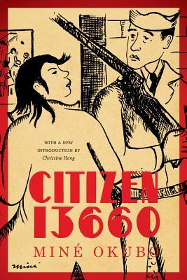 The cover of Citizen 13660 depicts a long-haired Japanese person looking angrily at a confused guard with a gun.