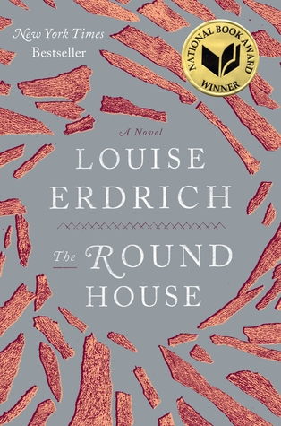 The Cover of The Round House shows red shards spiraling out from the title.