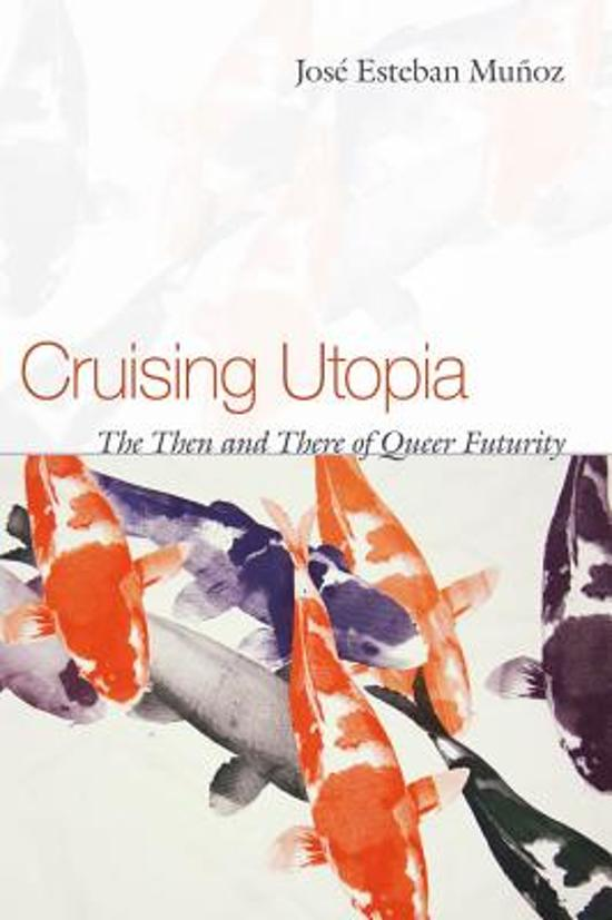 The cover of Cruising Utopia shows several koi fish swimming.