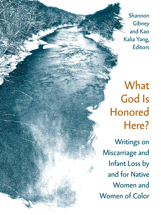 The cover of What God is Honored Here shows a picture of a river running through grassy banks. The pictures is sketch and blue, making it seem cold and painted.